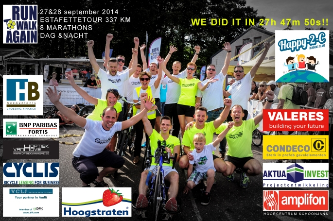 Happy 2 C - finish foto 2014 Sponsors